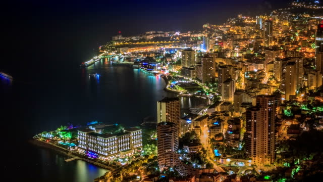Monte Carlo at night Monte Carlo at night monte carlo stock videos & royalty-free footage