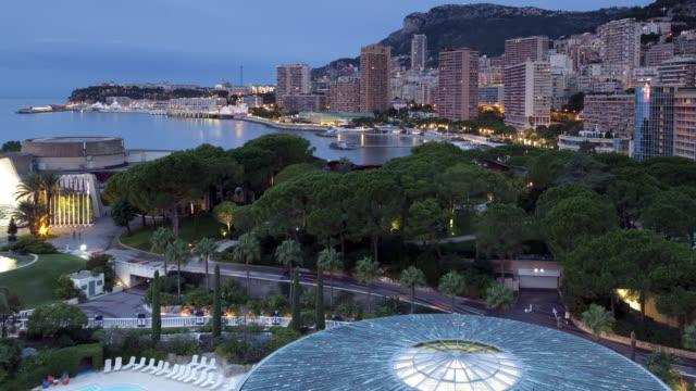 Monte-Carlo Monaco Midnight To Dawn To Midnight Timelapse video