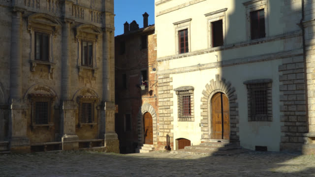 Montepulciano, Siena, Italy. View of the Piazza Grande video