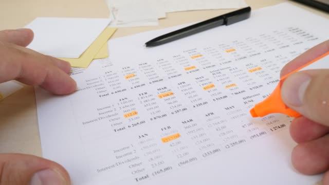 monthly bills and expenses - długi filmów i materiałów b-roll
