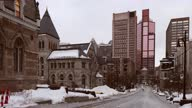 istock Montreal Mctavish street view on an overcast february day 1301253764