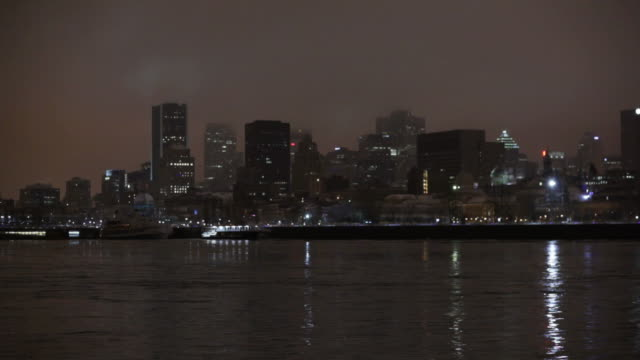 Montreal on a mysty night video
