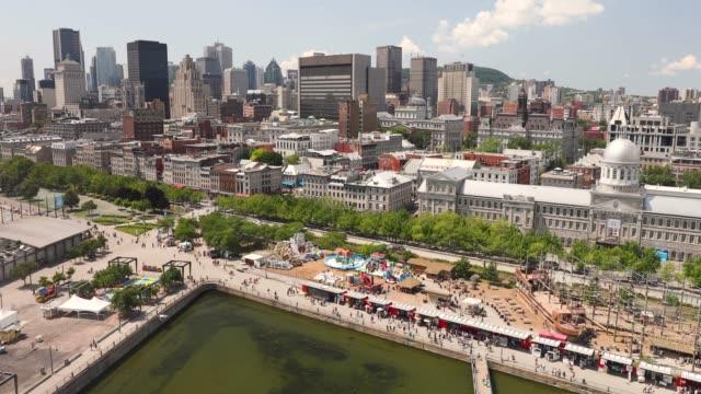 Montréal Québec Canada vue sur les toits de la ville - Vidéo