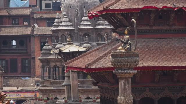 Monument and Ancient Buildings at Patan Durbar Square, Kathmandu, Nepal video