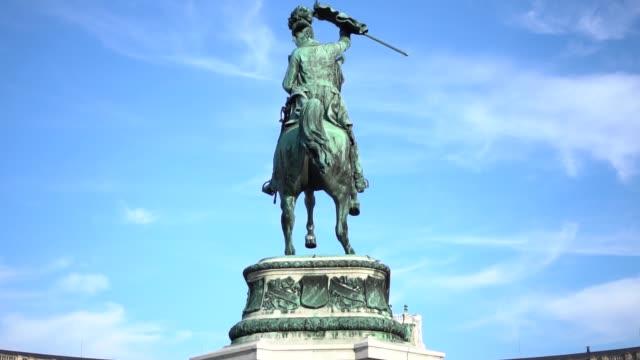 Monument in Vienna horse statue