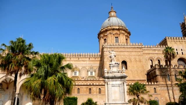 monument of rosalia in palermo in sicily, italy. - palermo città video stock e b–roll