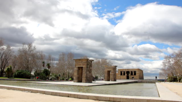 Monument Temple of Debod in Madrid video
