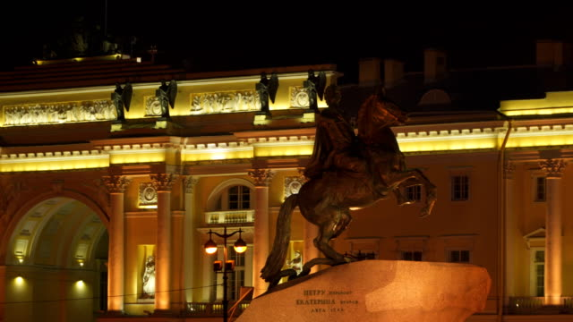 Monument to Peter the Great. Bronze Horseman video