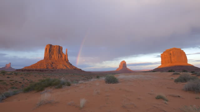 Monument Valley and a rainbow