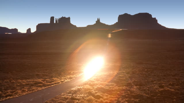 Monument Valley Road Time Lapse video