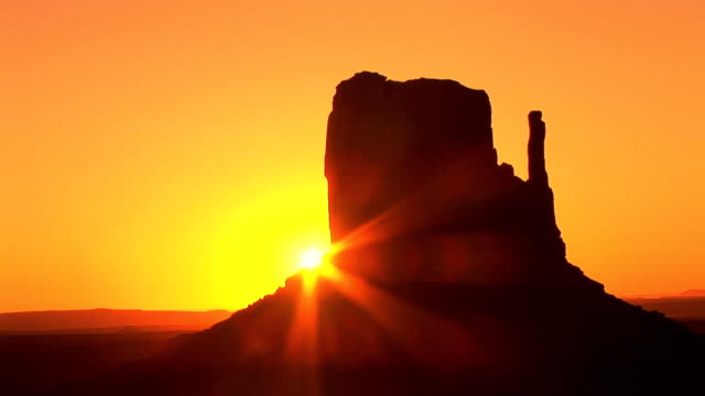 Monument Valley, sunrise, time lapse video