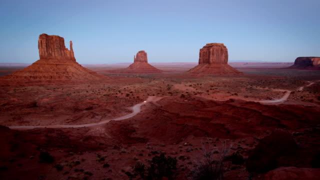 Monument Valley timelapse at dusk video