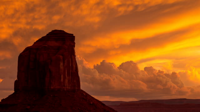 Monument Valley Twilight Clouds Time Lapse