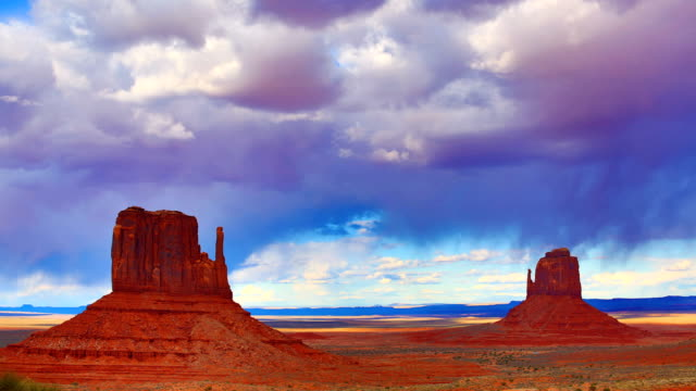 monument valley - parco nazionale video stock e b–roll