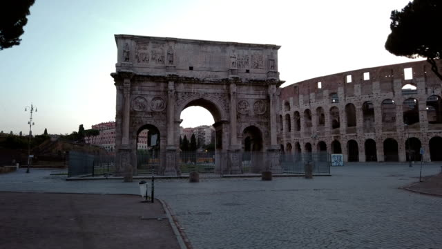 Monumental Arch of Constantine and Coliseum video