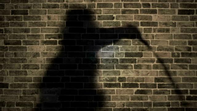 Moody Shadow Man Cracks Whip video