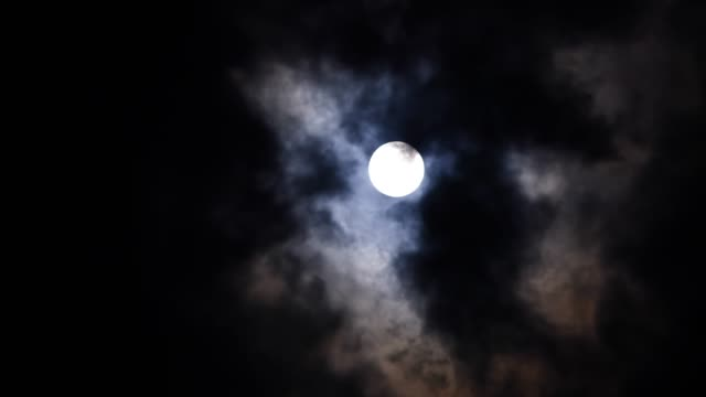 Moon and Cloud - Sky Moon and Cloud - Sky ghost icon stock videos & royalty-free footage