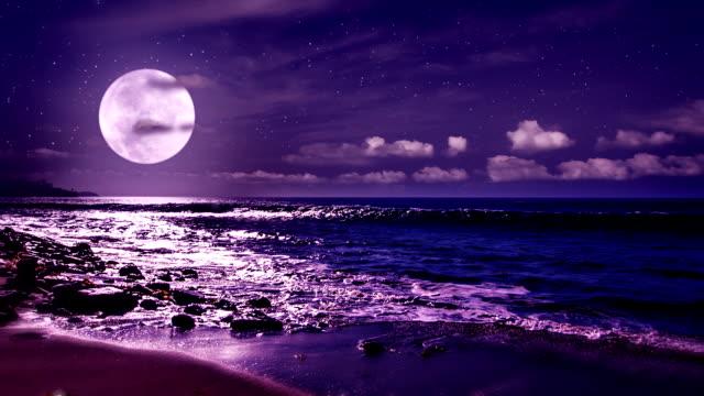 Moon and sea