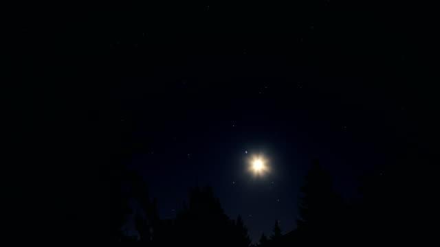 vídeos y material grabado en eventos de stock de luna y noche estrellada - estrella del norte
