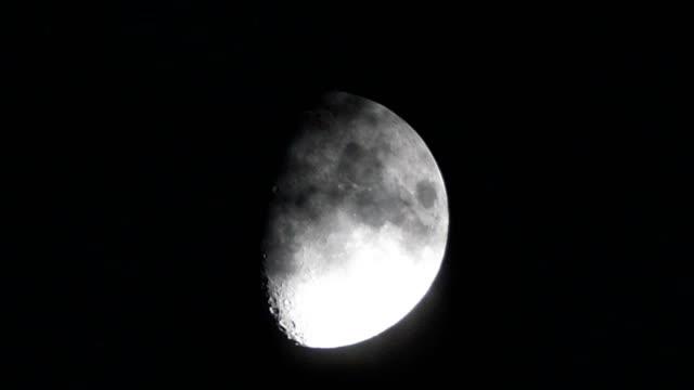 moon at night - spazio e astronomia video stock e b–roll
