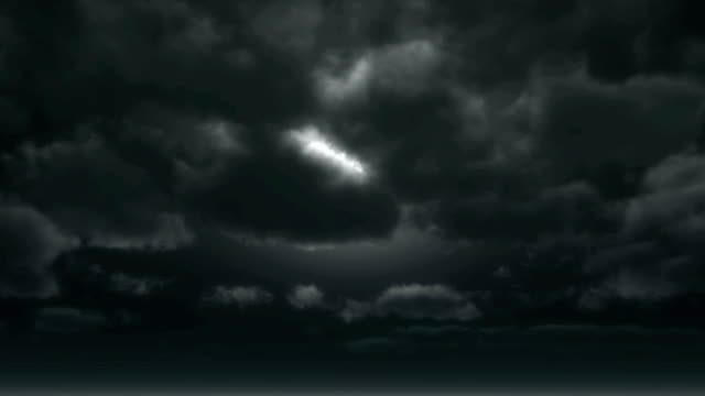 moon horror clouds video