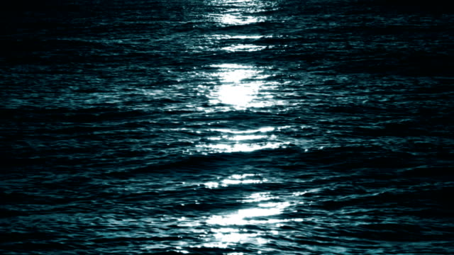 月の光の海、ループ - 水面点の映像素材/bロール