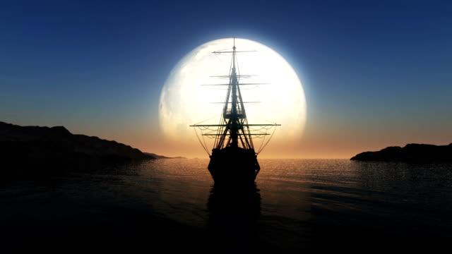 moon stary statek - columbus day filmów i materiałów b-roll