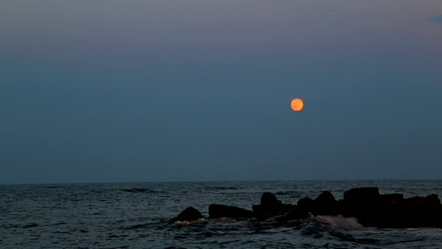 Moon over the seacoast video