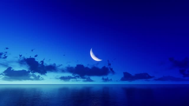 månen över vatten - halvmåne form bildbanksvideor och videomaterial från bakom kulisserna