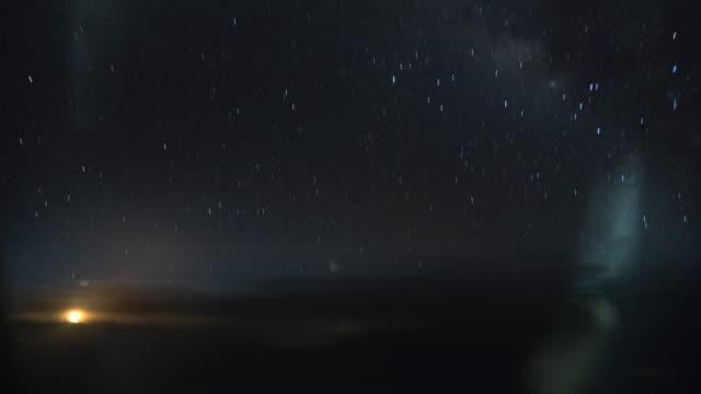 Moon Rise Aircraft Passenger POV Timelapse