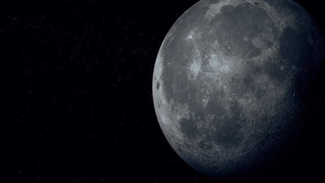 Moon seen from space The earth moon seen from space. moon stock videos & royalty-free footage