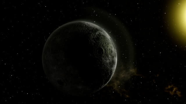 Moon Shot in Space 3D Illustration video