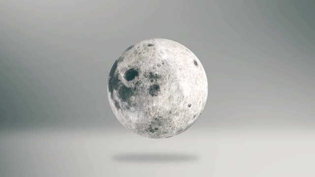 Moon Spinning Infographic Background 3D Illustration video