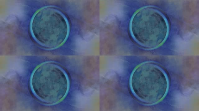 Moon & Sun in an abstract manner. Creative Fun - Expressed in Artistic Free way.