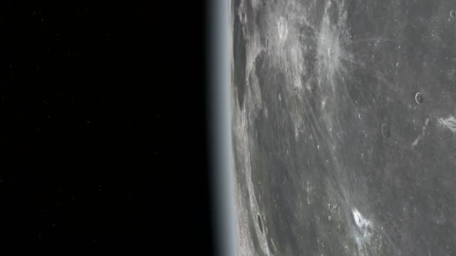 Moon surface seen from space video