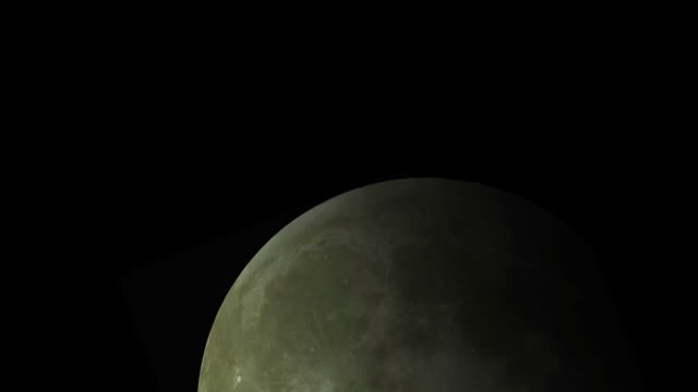 Moon Time Lapse Huge Tele HD video