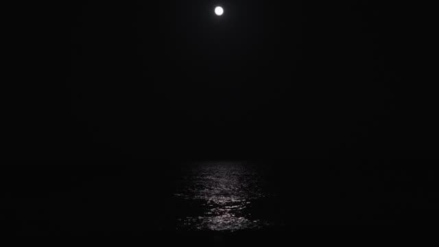 vídeos y material grabado en eventos de stock de océano moonlight - marea