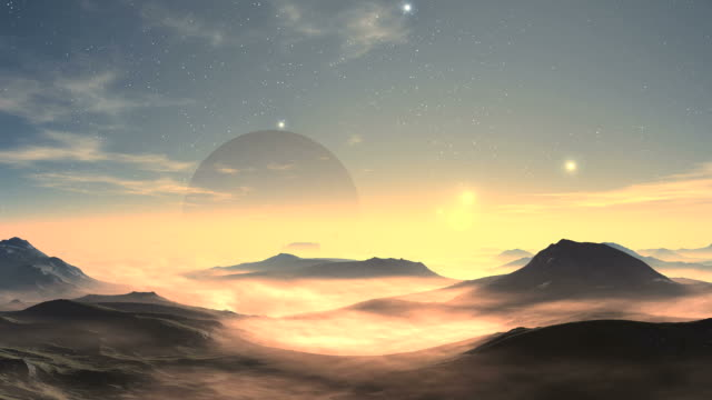 Moonrise And Sunrise On An Alien Planet video