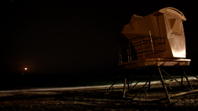 Moonrise At the Beach (Time Lapse) video