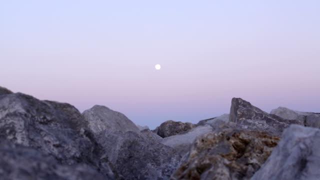 Moonrise Rocky Coast video