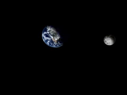rotazione della luna - orbitare video stock e b–roll
