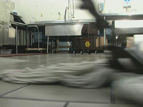 Mopping A Restaurant Kitchen Floor video