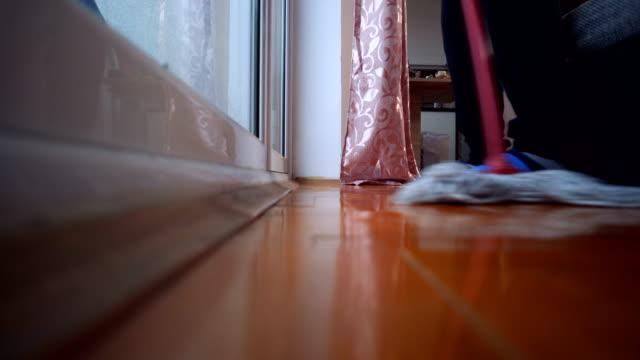 Mopping floor video