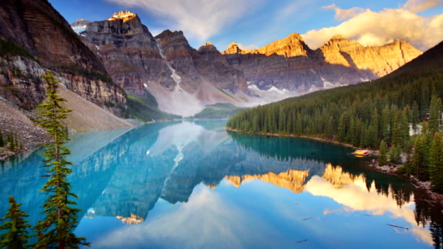 Moraine Lake at sunrise, Banff National Park, Canada video