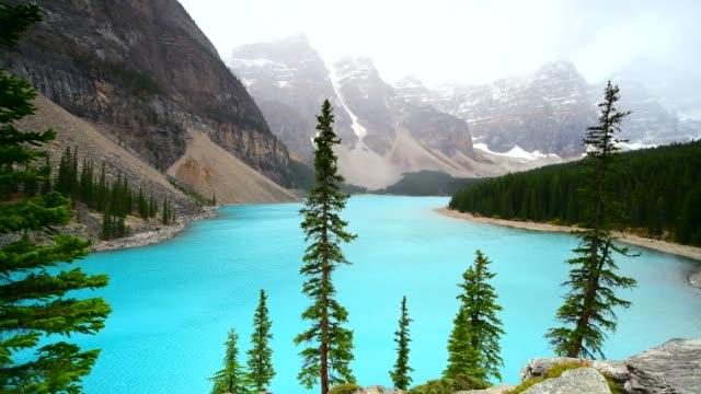 Moraine lake in Banff National Park video