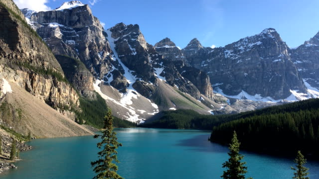 Moraine Lake in Rocky Mountains, Canada. video