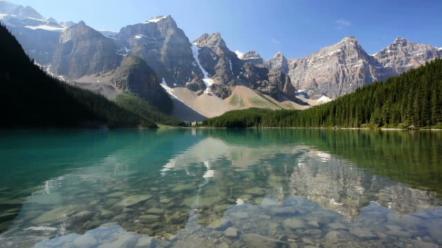 moraine lake - lakes stock videos and b-roll footage