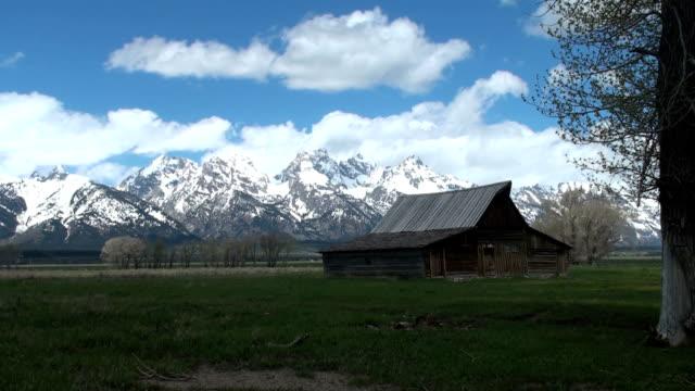 Moran Barn time lapse in daytime video