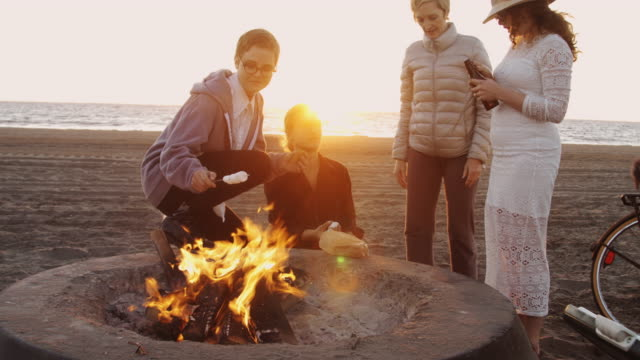 S'Mores and Beer on the Beach - video