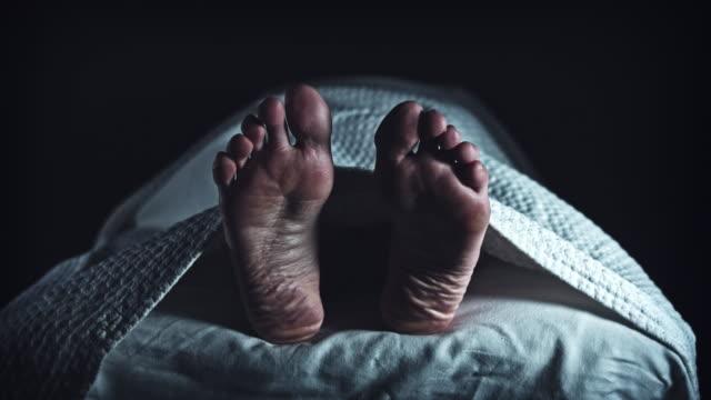 vídeos y material grabado en eventos de stock de 4k morgue cadáver, etiqueta en blanco lugar de mortician en pie - autopsia
